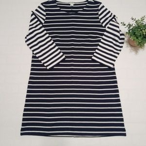 J.Crew Factory Stripes 3/4 Sleeve Blouse  Dress
